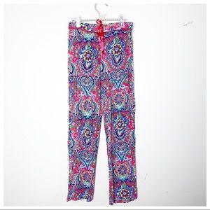 CYNTHIA ROWLEY   Pink Paisleys Pajama Pants